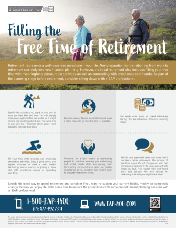 Filling the Free Time of Retirement Flyer
