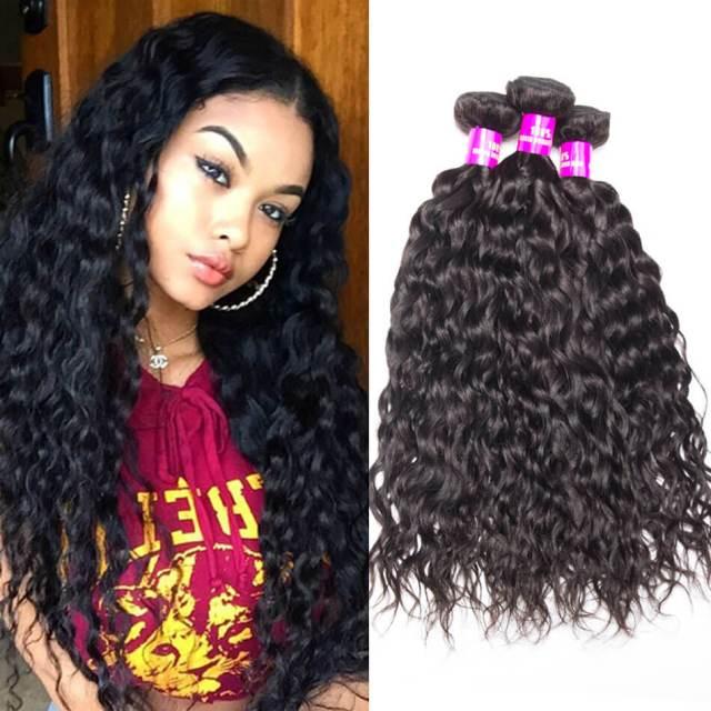 water wave virgin hair 3 bundles tinashe hair peruvian wet and wavy human hair weave bundles natural hair extension