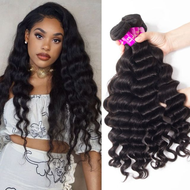 malaysian hair loose deep wave 4 bundles 100% remi virgin hair bundles loose deep curly weave human hair