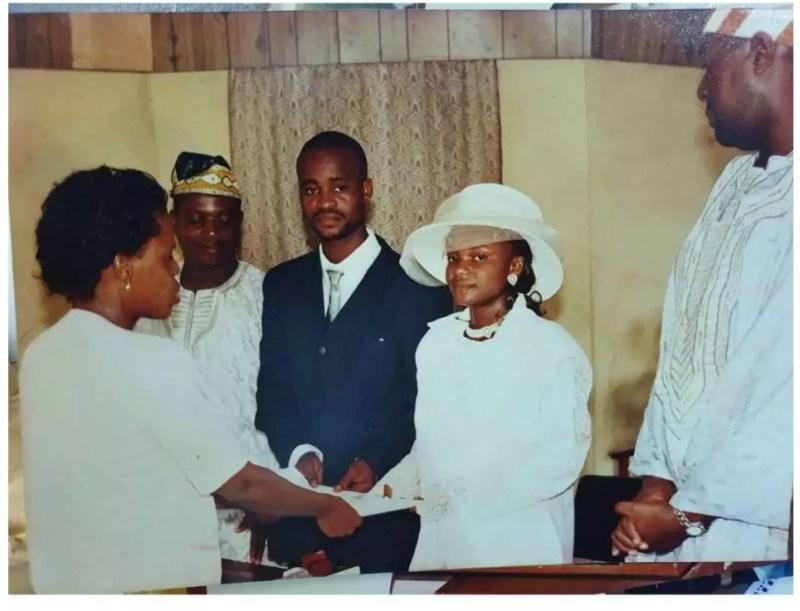 Iyabo Ojo at her wedding .