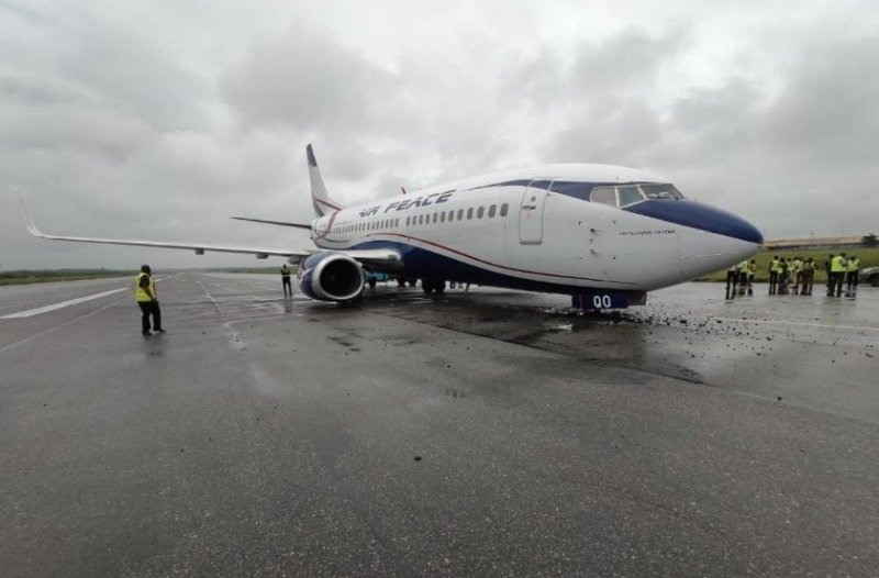 Airpeace aircraft  involved in an emergency landing