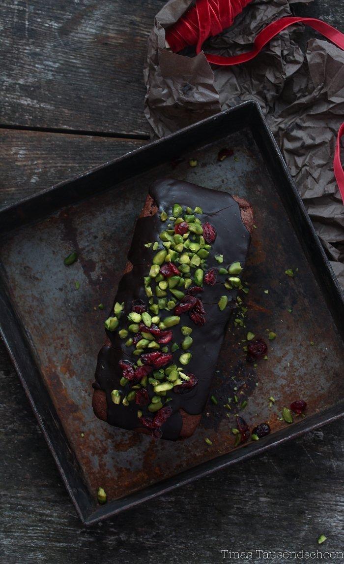 Pistazien Cranberry Schokokuchen