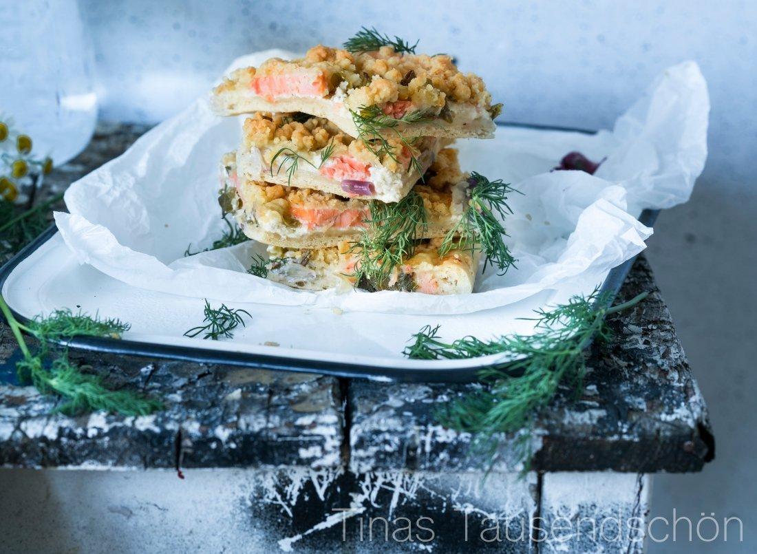 Lachs Streuselkuchen