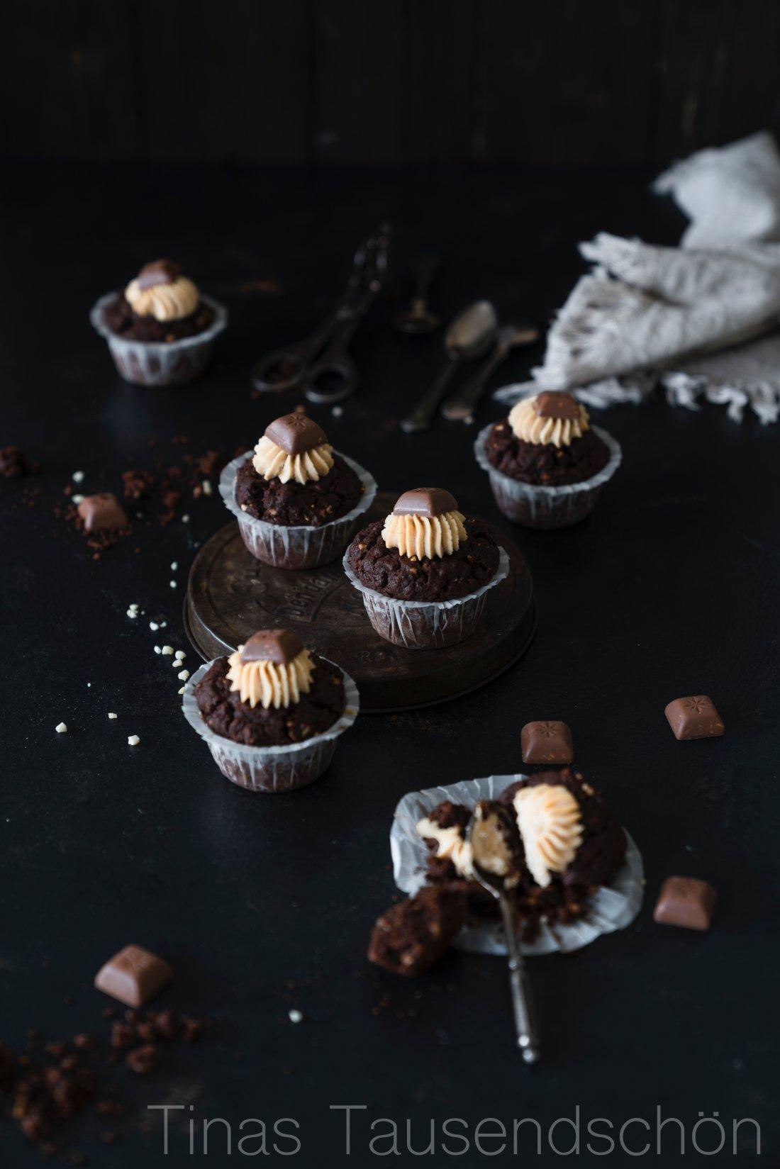 Erdnuss Schokoladen Muffins