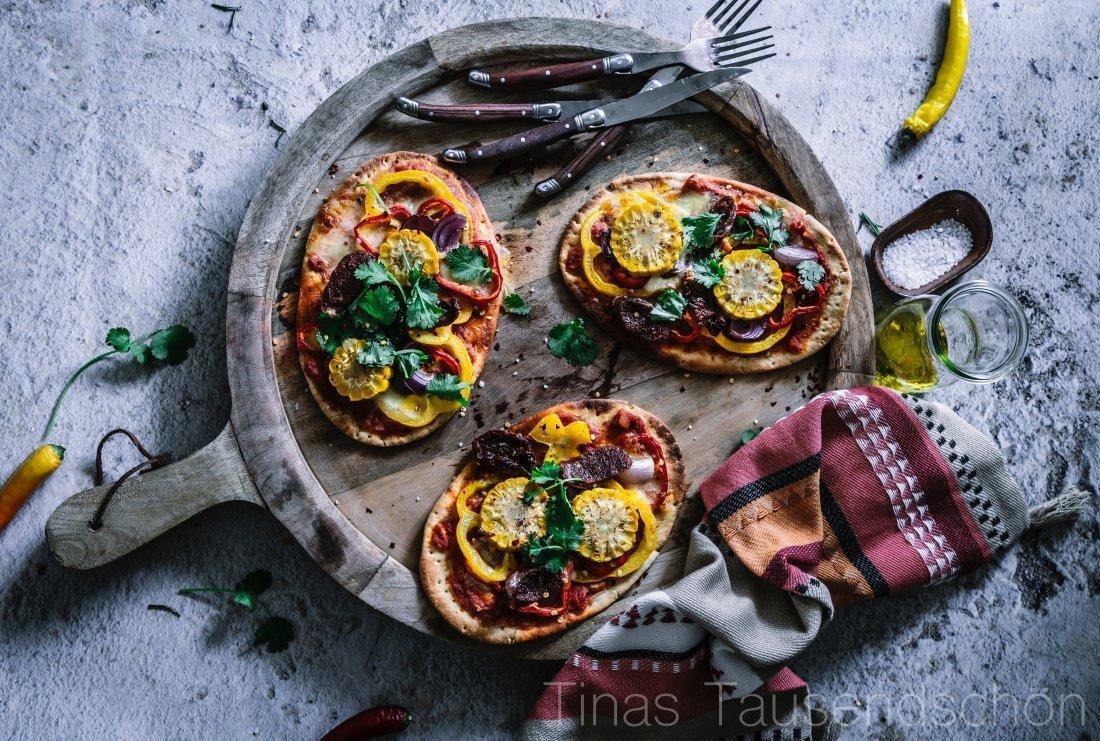Mini Pizzen Tex Mex Style