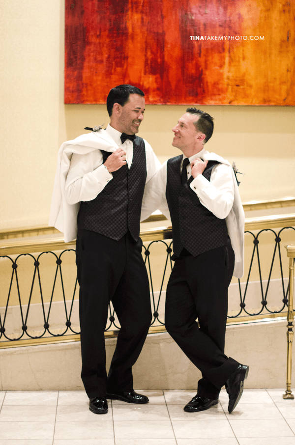 39-Washington-DC-Virginia-Gay-Same-Sex-Wedding-Pose-Tuxedos-Men-12-13-14-Mayflower-Hotel