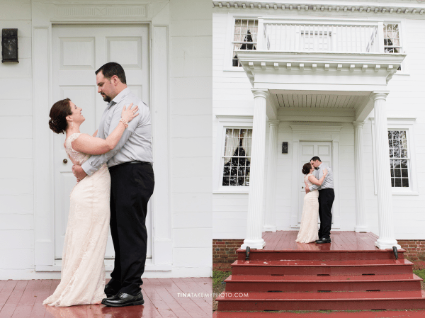 ridge-maryland-md-rainy-spring-wedding-photographer-winery-slack-woodlawn-manor-house-red-white-porch-bride-groom-portraits-outdoor-spring-romantic
