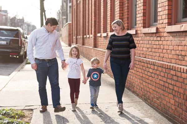 rva family photo shoot downtown