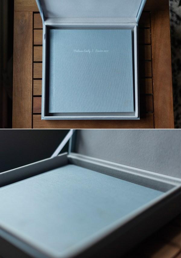 linen photo album design