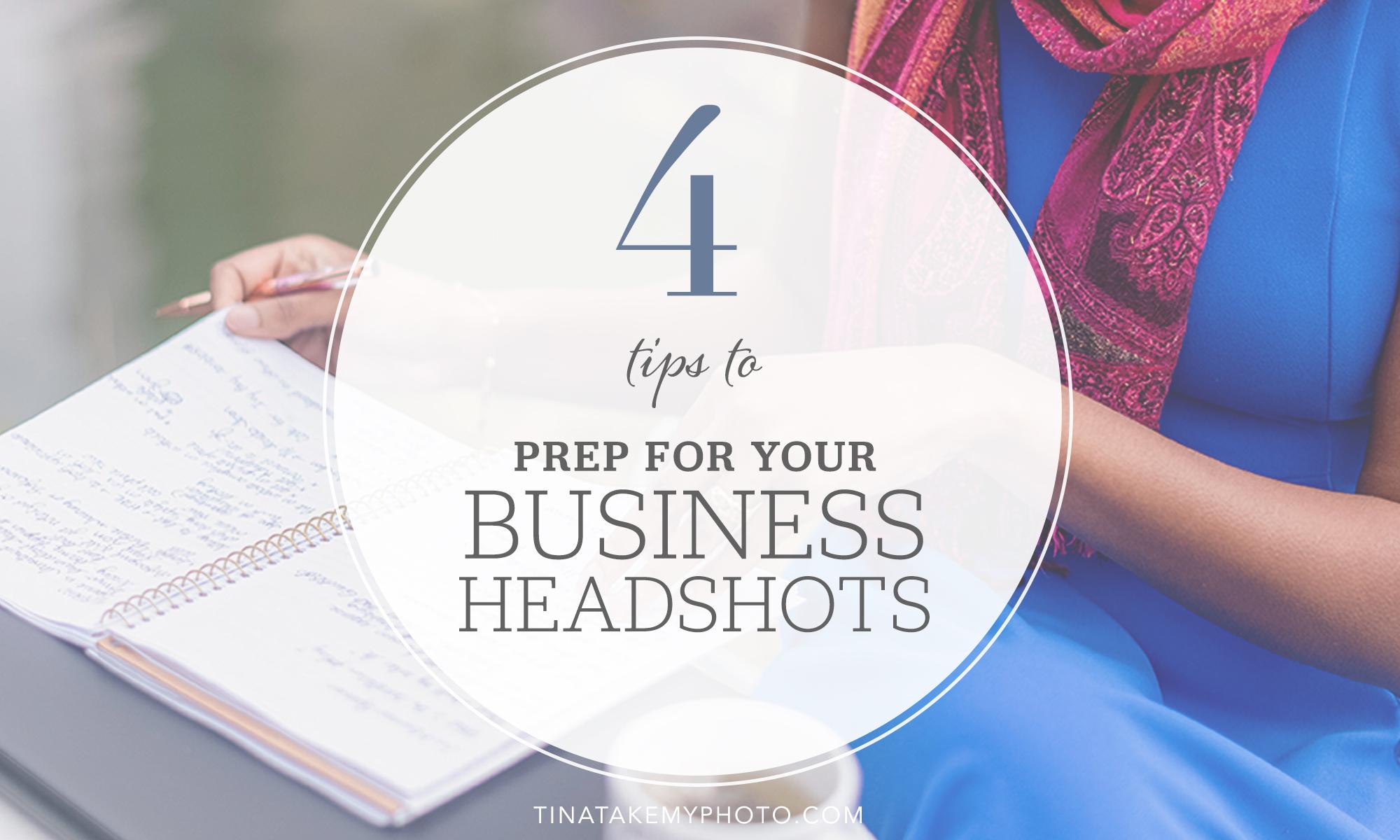 prep for business headshots