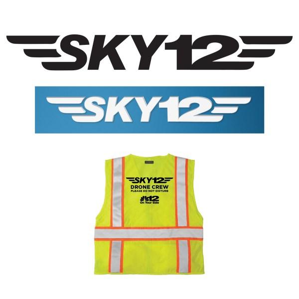 SKY12 Drone Logo Design