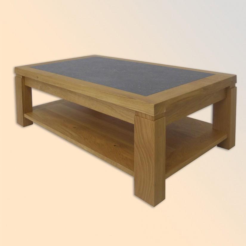 table basse chene massif 100 dessus ceramique orleans