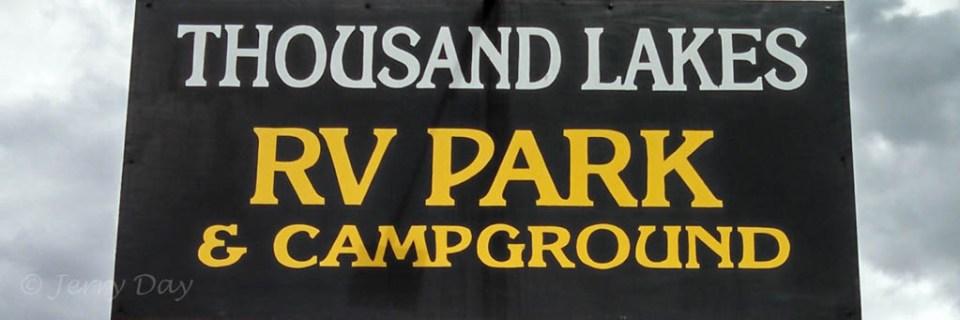 Thousand Lakes RV Park Sign