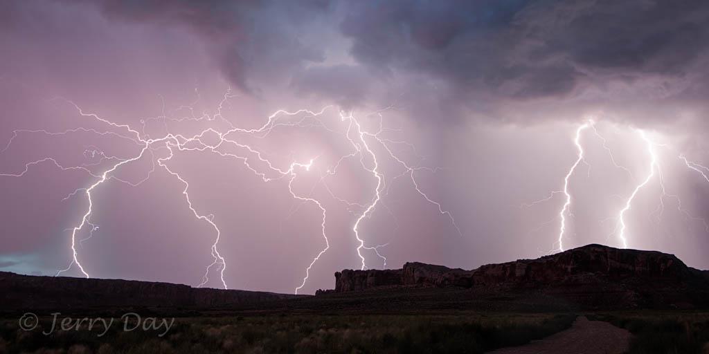 Lightning storm at Bluff, Utah