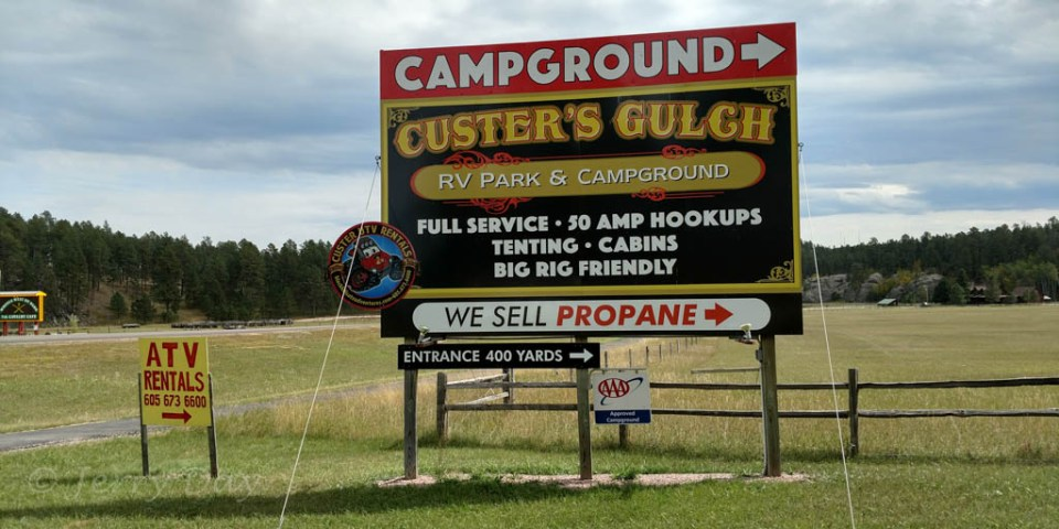 Custer's Gulch RV Park, Custer, South Dakota