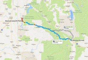 Our Travel Itinerary - Coeur d'Alene, ID - 2017