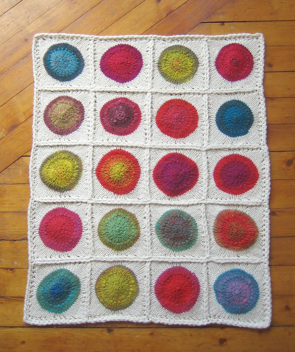 POP!! a hot mod polka dot blanket | Tin Can Knits