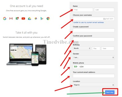 Guide to Create Gmail Registration - www.gmail.com