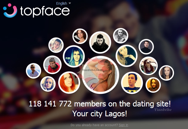 Login com www topface Registration process
