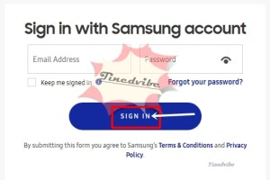 samsung cloud Sign In