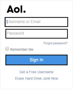 AOL mail login uk