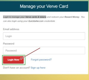 Verve credit card login