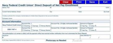 Navy Federal Direct Deposit