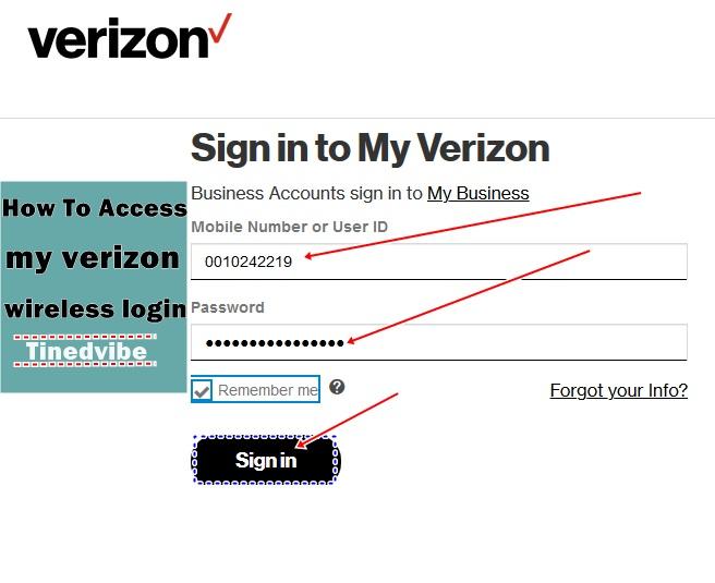My Verizon wireless login