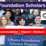 Obama Foundation Scholars Program 2021-2022 to Study in USA – Apply Now
