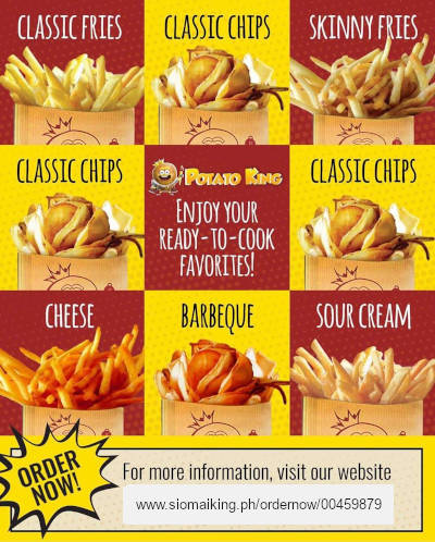 Order ready-to-cook fries from Potato King