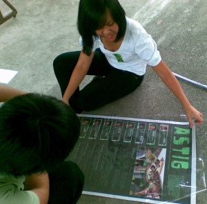 Members of the party ASTIG prepare campaign materials. Photo by Frederick Tomacder.