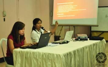 Student Regent Krista Melgarejo discusses the points on the calendar shift.