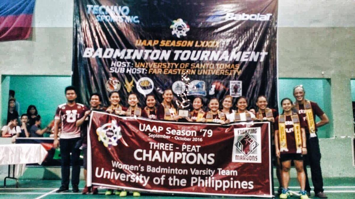 UP secures three-peat, ninth overall women's badminton crown