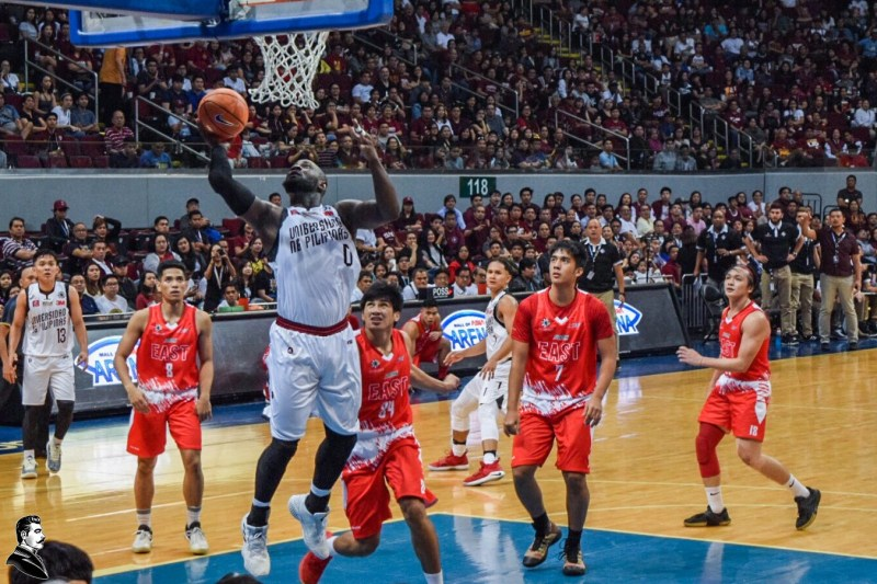 Maroon transfer Bright Akhuetie debuts in fantastic form in UP's season opening game against the UE Red Warriors. Photo Kezhia Maglasang.