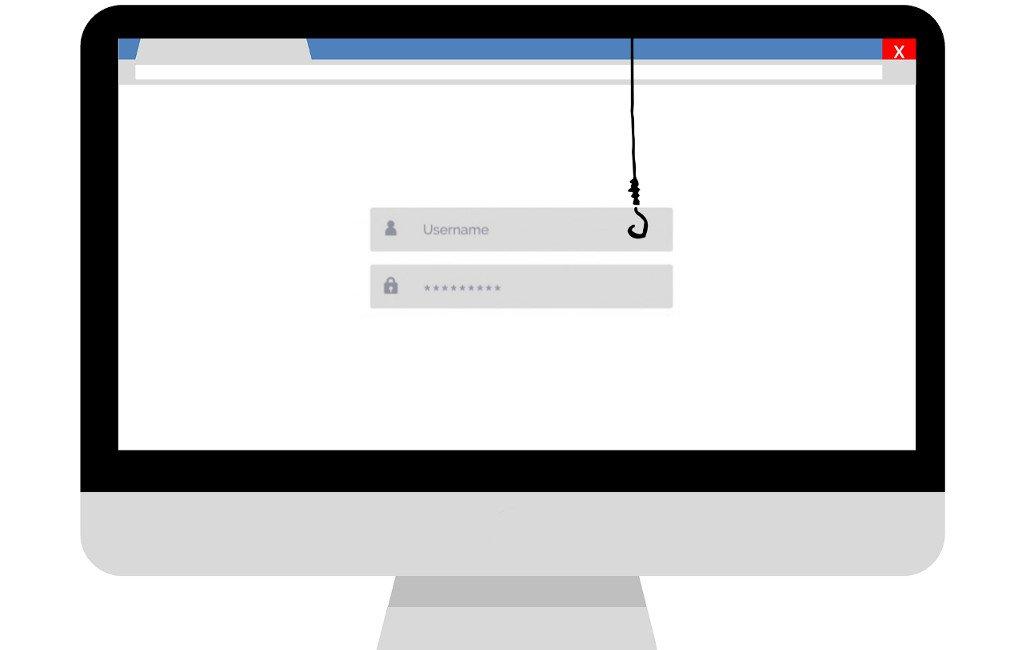 Ataque de phishing: robo de datos personales