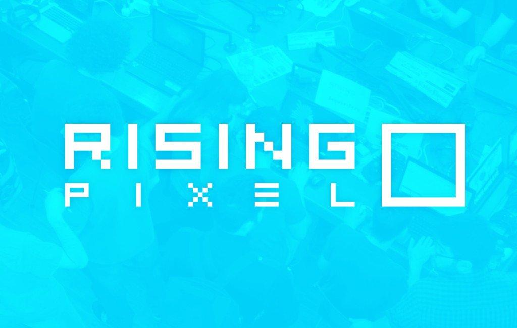 El logo de Rising Pixel