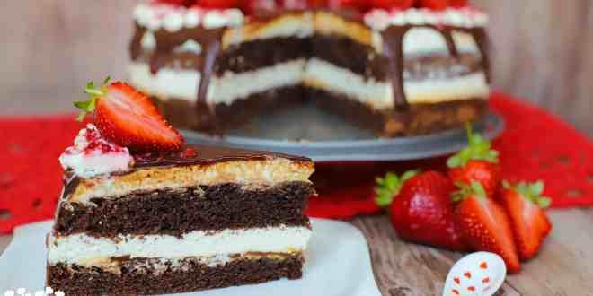 """Tvarohovo-čokoládová torta """"ala"""" Míša"""