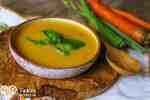Krémová mrkvovo-bazalková polievka