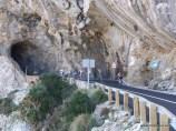 Die Strecke heute war sehr abwechslungsreich - schöne Aussicht und auch ein (unbeleuchteter) Tunnel