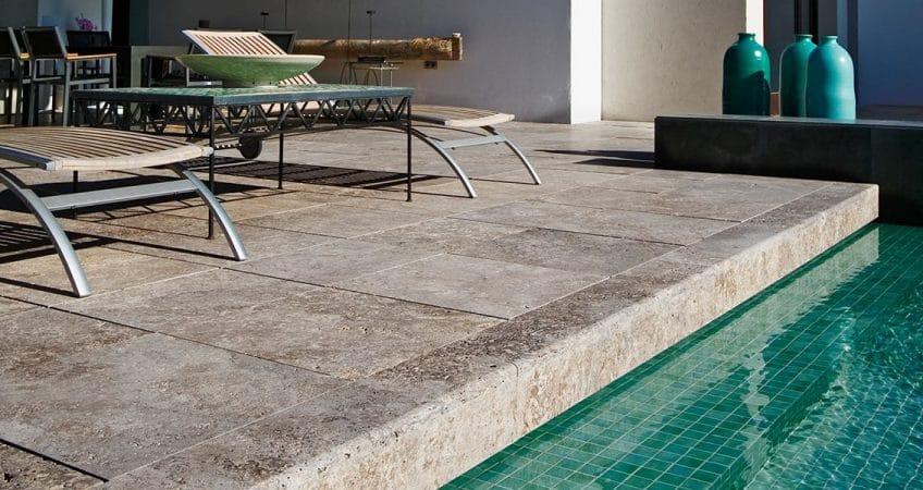 travertine terrace to enjoy the