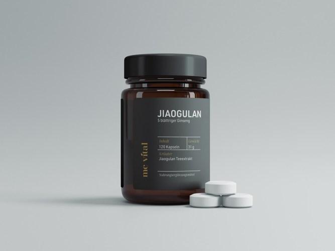 Labeldesign einer Tablettendose