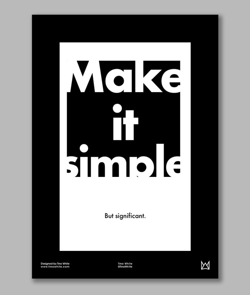"""""""Make it Simple"""" A3 Poster Design"""