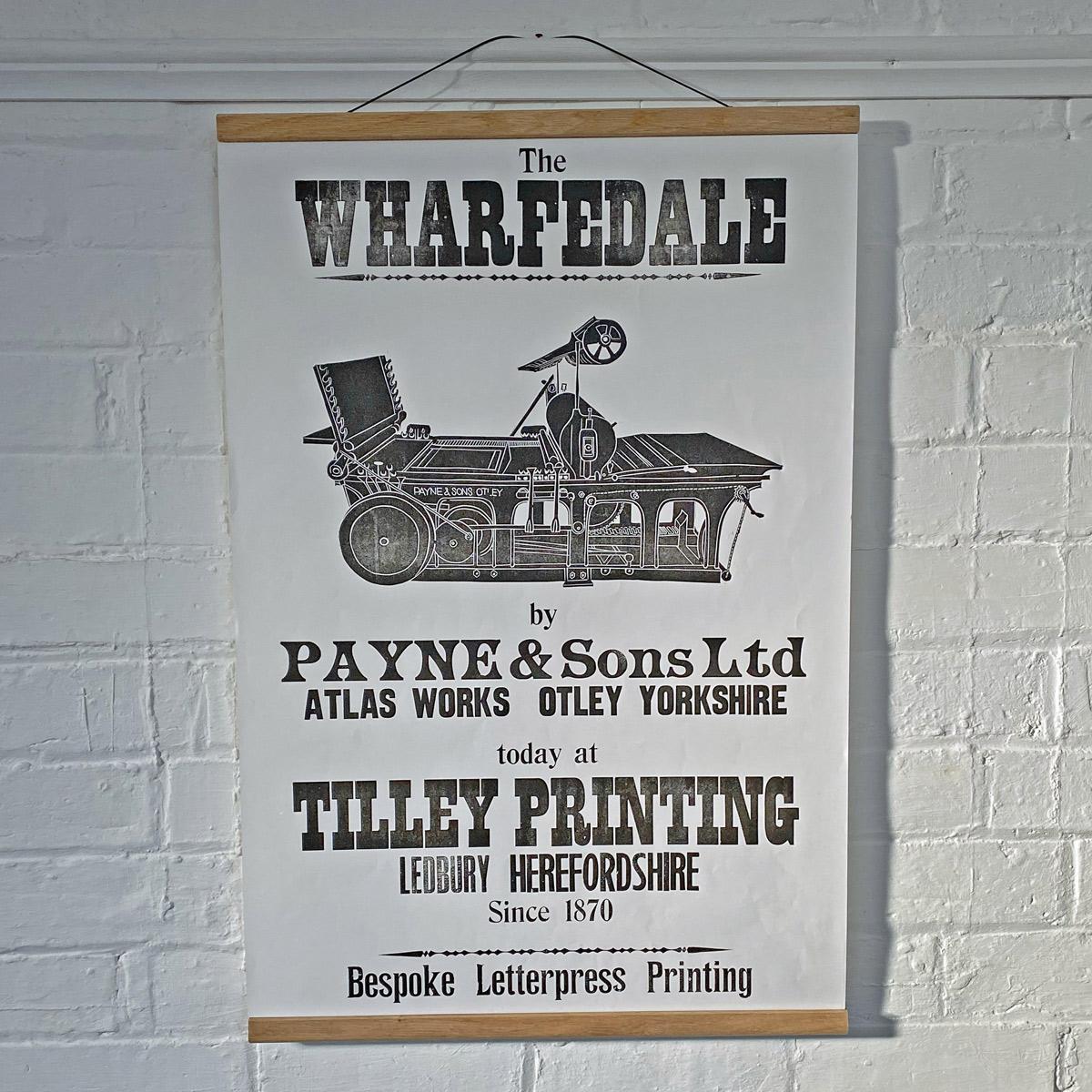 wharfdale letterpress poster