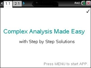 Complex Analysis Made Easy