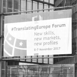 Translating Europe Forum 2017 Sign