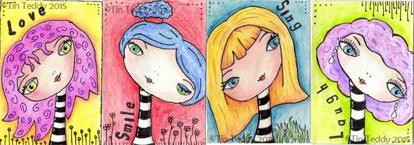 Zentangle Inspired Artist Trading Cards © Deborah Richardson of Tin Teddy