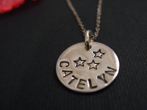 Personalized Silver Necklace by DMCharmCo
