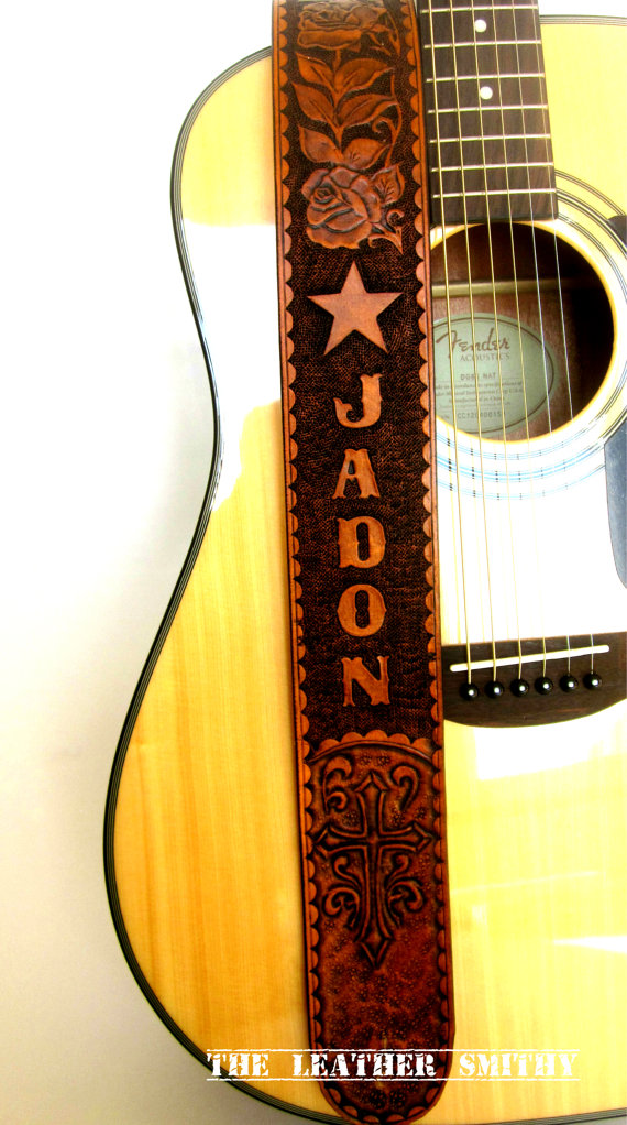 Custom Guitar Strap by TheLeatherSmithy