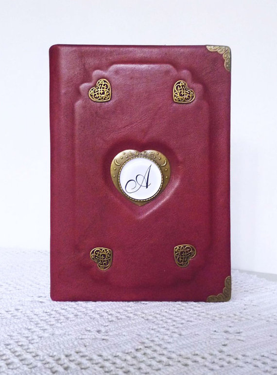 Personalized Leather Journal by AnnaKisArt