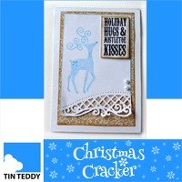 Simple stamped reindeer christmas card tutorial